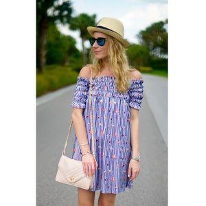NWT Chicwish Off the Shoulder Flamingo Print Dress